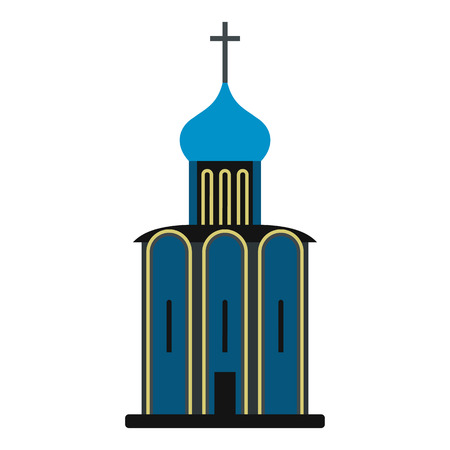 orthodox: Orthodox church icon in flat style isolated on white background