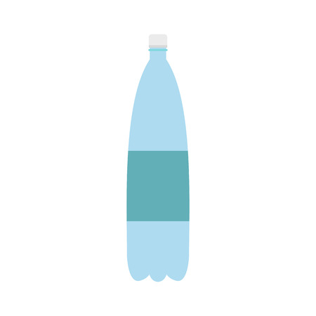 purify: Plastic bottle of water icon in flat style isolated on white background Illustration