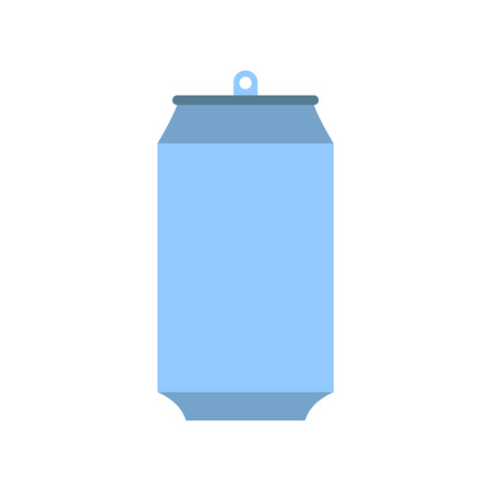 beer can: Aluminum can icon in flat style isolated on white background Illustration