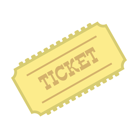 train ticket: Train ticket icon in flat style isolated on white background