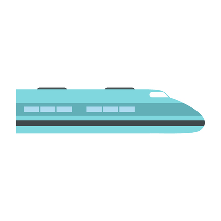 the high speed train: High speed train icon in flat style isolated on white background