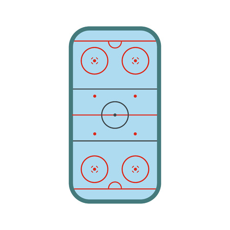 rink: Ice hockey rink icon in flat style isolated on white background