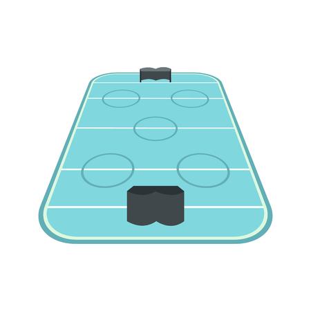 hockey rink: Ice hockey rink icon in flat style isolated on white background