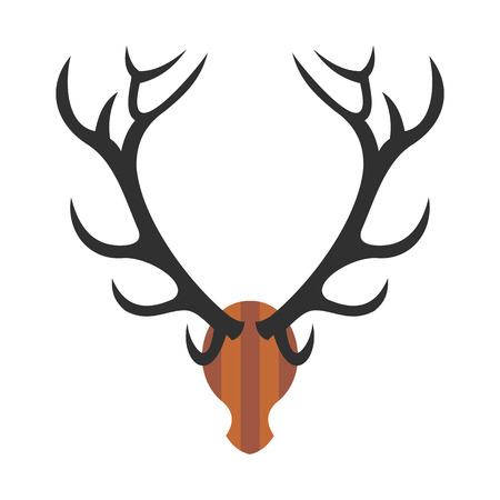 killed: Deer head icon in flat style isolated on white background
