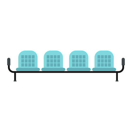 seats: Airport seats icon in flat style isolated on white background