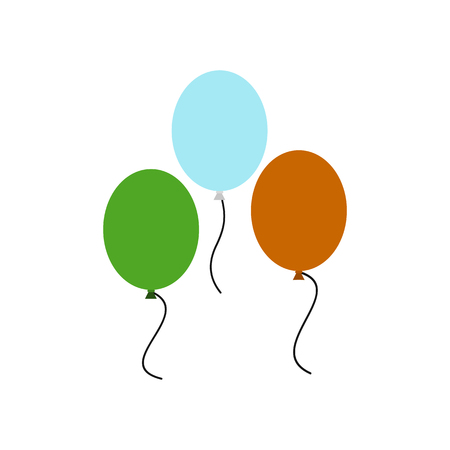 irish pride: Balloons in irish colors icon in flat style isolated on white background