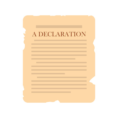 declaration: Declaration icon in flat style isolated on white background