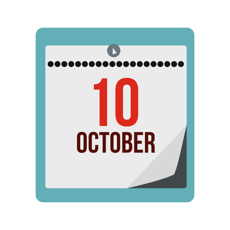 calendar day: Columbus day calendar icon in flat style isolated on white background Illustration