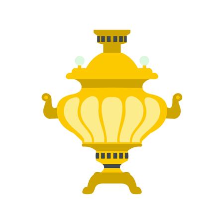 samovar: Samovar icon in flat style isolated on white background