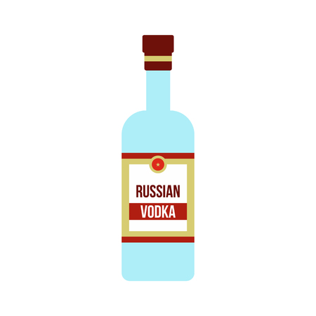 distill: Bottle of vodka icon in flat style isolated on white background