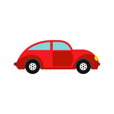 Auto oldtimer icoon in vlakke stijl op een witte achtergrond Vector Illustratie