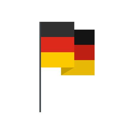 bandera de alemania: Alemania icono de la bandera en el estilo plano aislado en el fondo blanco