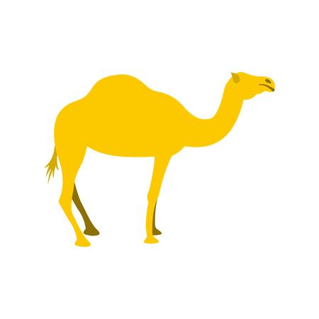 Camel icon in flat style isolated on white background Vektoros illusztráció