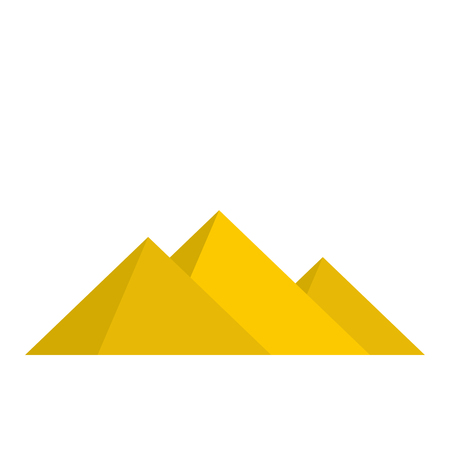 Pyramids of Egypt icon in flat style isolated on white background Illustration