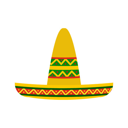 icono de sombrero de estilo plano aislado en el fondo blanco Ilustración de vector