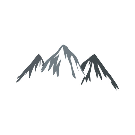 rockies: Mountain icon in flat style isolated on white background