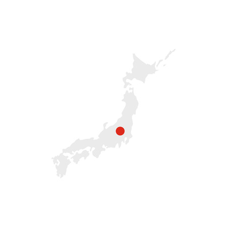 tokyo prefecture: Map of Japan icon in flat style isolated on white background Illustration