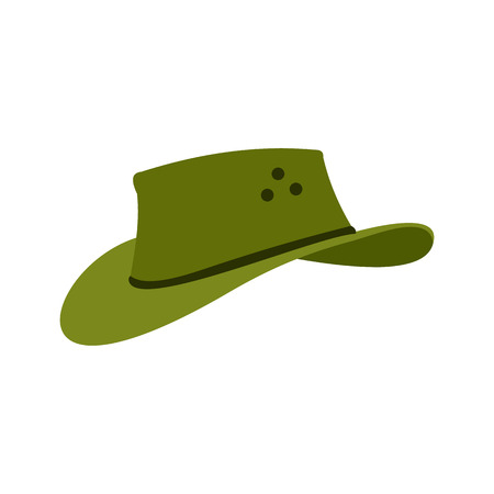 stockman: Cowboy hat icon in flat style isolated on white background Illustration
