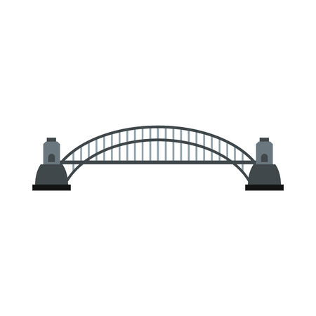 harbour: Sydney Harbour Bridge icon in flat style isolated on white background