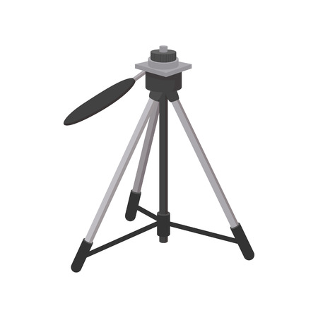 tripod: Tripod icon in cartoon style isolated on white background