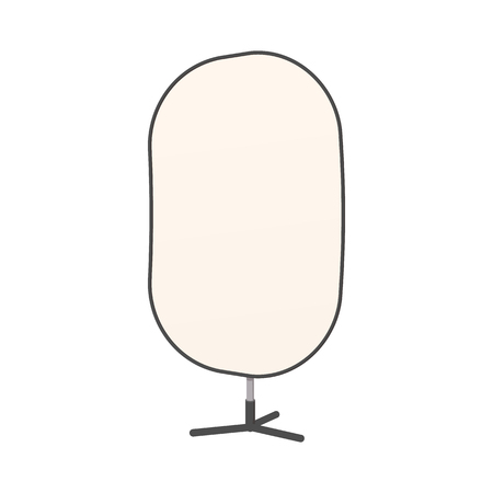 reflector: Studio reflector icon in cartoon style isolated on white background. Photo studio reflector on a tripod Illustration
