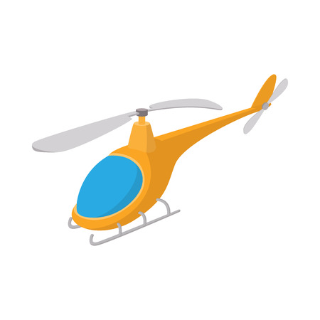 airborne: Helicopter icon in cartoon style on a white background