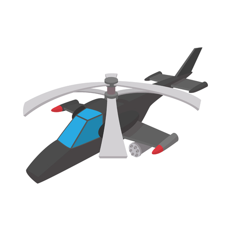 blackhawk helicopter: Military helicopter icon in cartoon style on a white background