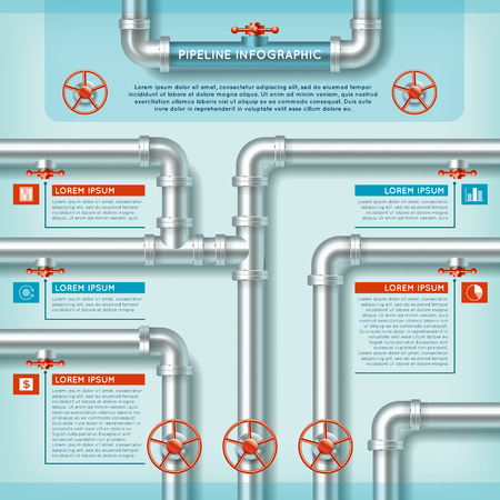 pipeline: Water Pipe Business Infographic for any design