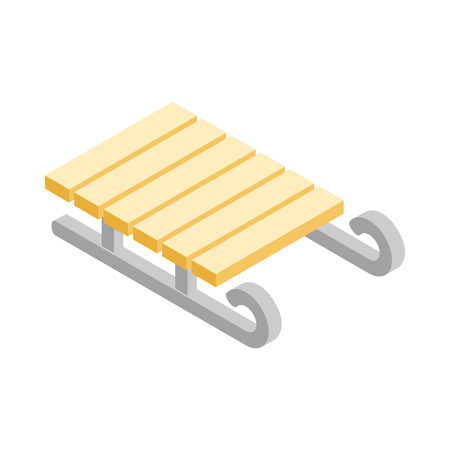 Sled icon in isometric 3d style on a white background