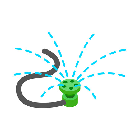 Sprinkler icon in isometric 3d style on a white background
