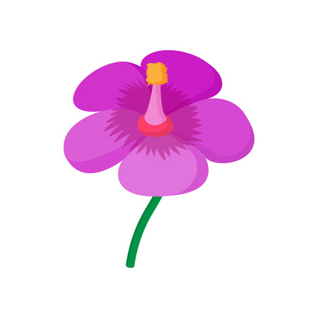 violet flower: Violet flower icon in cartoon style on a white background Illustration