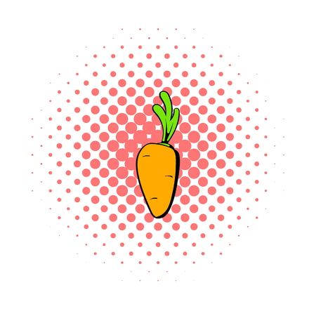 wholesome: Carrot icon in comics style on a white background Illustration