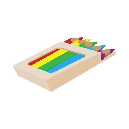Caja De Lápiz Con Lápices De Colores Para Dibujar, Icono Aislado ...