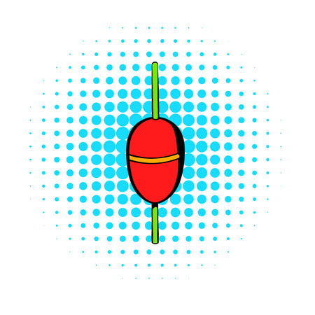 bobber: Bobber icon in comics style on a white background