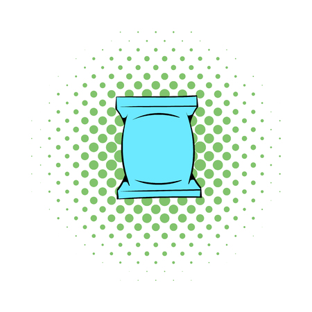 wet: Wet wipes package icon in comics style on a white background