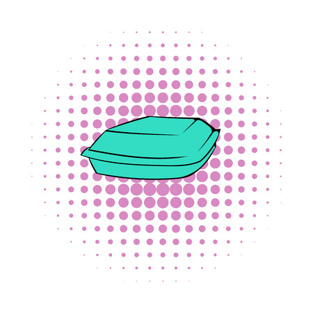 chinese food container: Food box icon in comics style on a white background Illustration