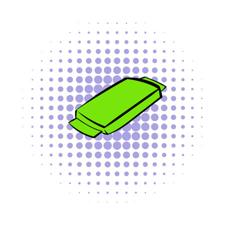 open sandwich: Food box icon in comics style on a white background Illustration