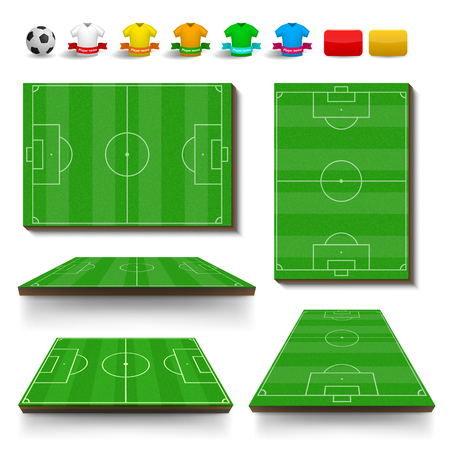 ruling: Soccer field set concept for any design Illustration