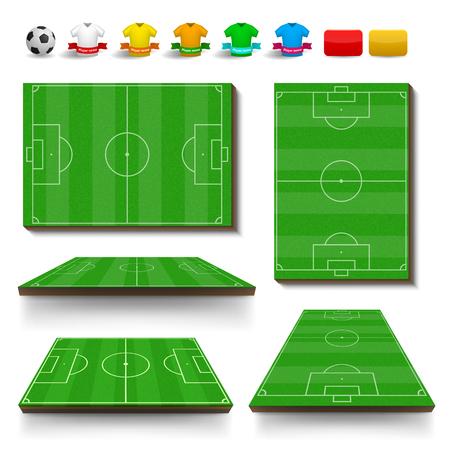 ruling: Soccer field set concept for any design Illustration