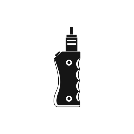 e cigarette: Vaporizer device icon in simple style on a white background Illustration