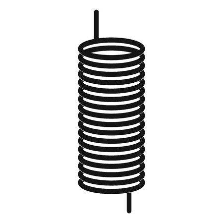 single coil: Metal spring icon in simple style on a white background Illustration
