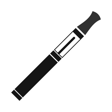 tobacco product: Electronic cigarette icon in simple style on a white background Illustration