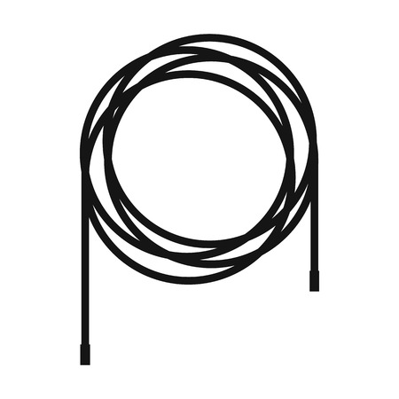 Cable icon in simple style on a white  background