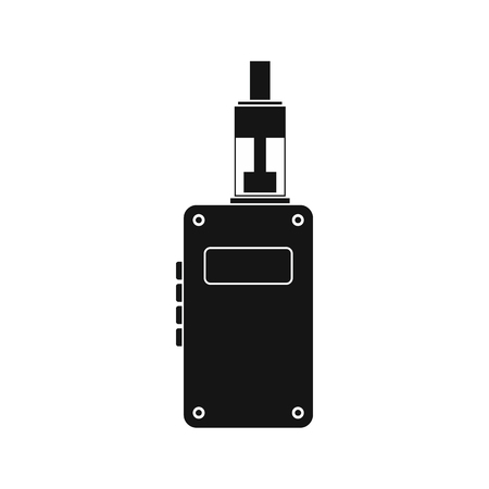 e cig: Vaping device icon in simple style on a white background Illustration