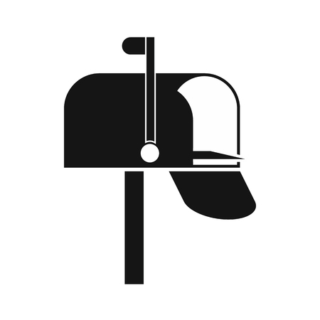 metal mailbox: Mail box icon in simple style on a white background Illustration