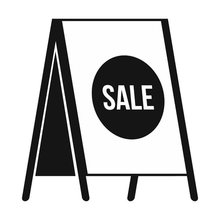 sandwich board: Sandwich board with text Sale icon in simple style on a white background Illustration