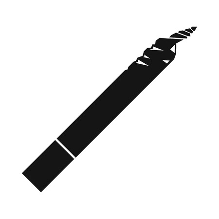 Spliff icon in black simple style isolated on white background Illustration