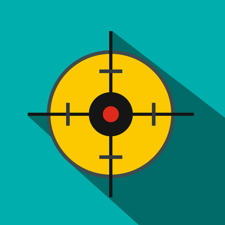 blip: Radar screen icon in flat style on a blue background