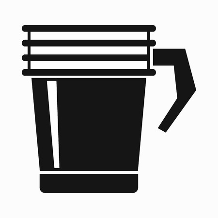 thermo: Thermo cup icon in simple style on a white background