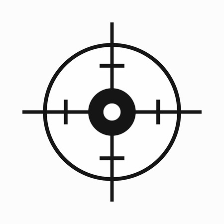 blip: Radar screen icon in simple style on a white background